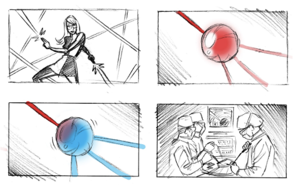 Google Arts & Culture Super Scientists storyboard