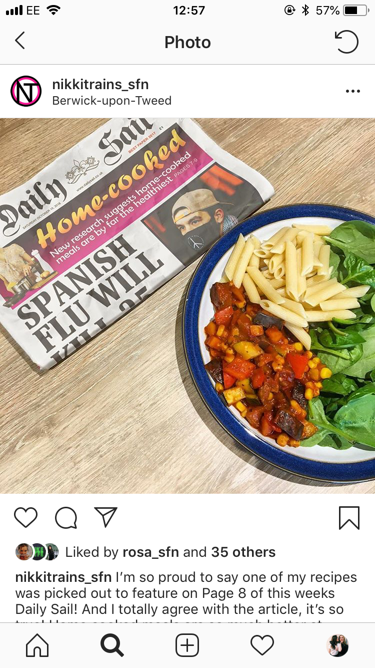 Instagram post showing national newspaper talking about spanish flu