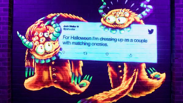 Flying Object Halloween Twitter